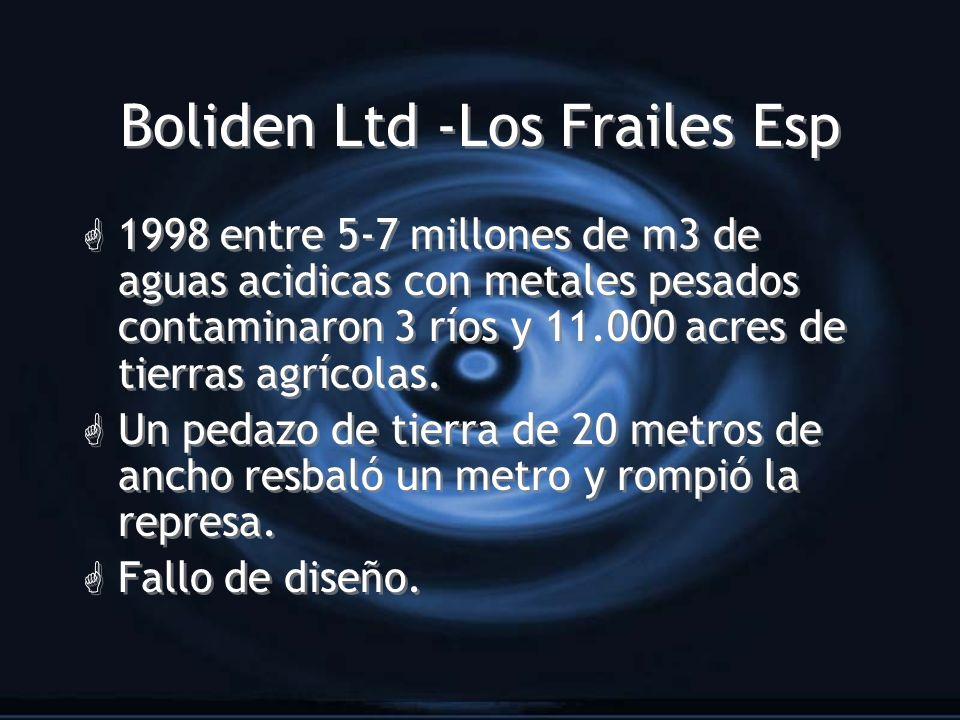 Boliden Ltd -Los Frailes Esp