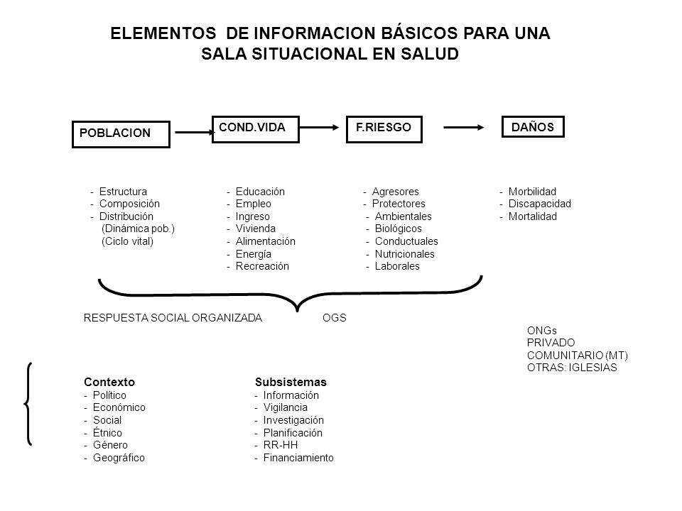 ELEMENTOS DE INFORMACION BÁSICOS PARA UNA