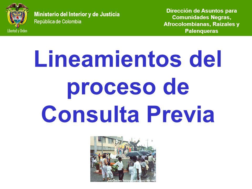 Lineamientos del proceso de Consulta Previa