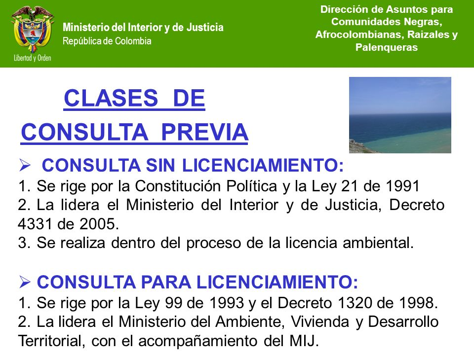 CLASES DE CONSULTA PREVIA