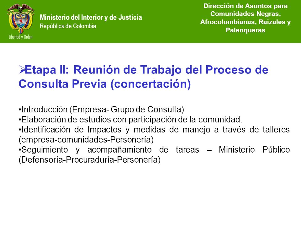 Lineamientos del proceso de consulta previa ppt video for Ministerio del interior direccion