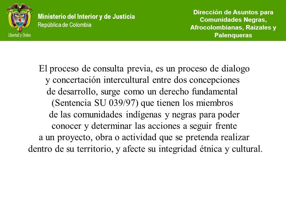 El proceso de consulta previa, es un proceso de dialogo