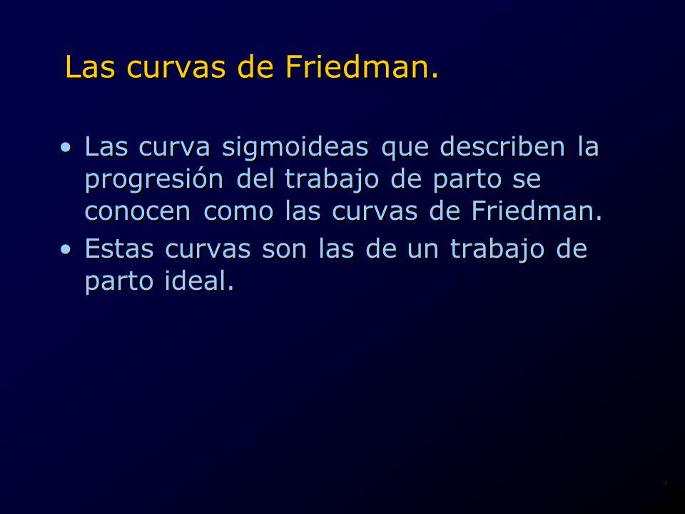 Las curvas de Friedman. Las curva sigmoideas que describen la progresión del trabajo de parto se conocen como las curvas de Friedman.