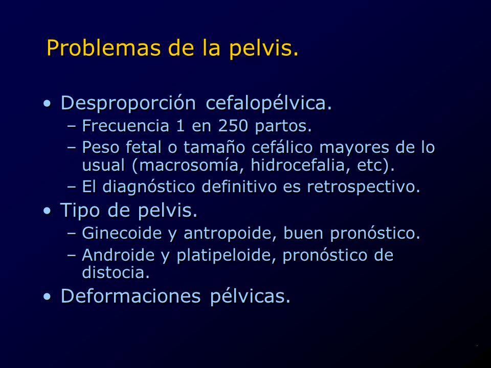 Problemas de la pelvis. Desproporción cefalopélvica. Tipo de pelvis.