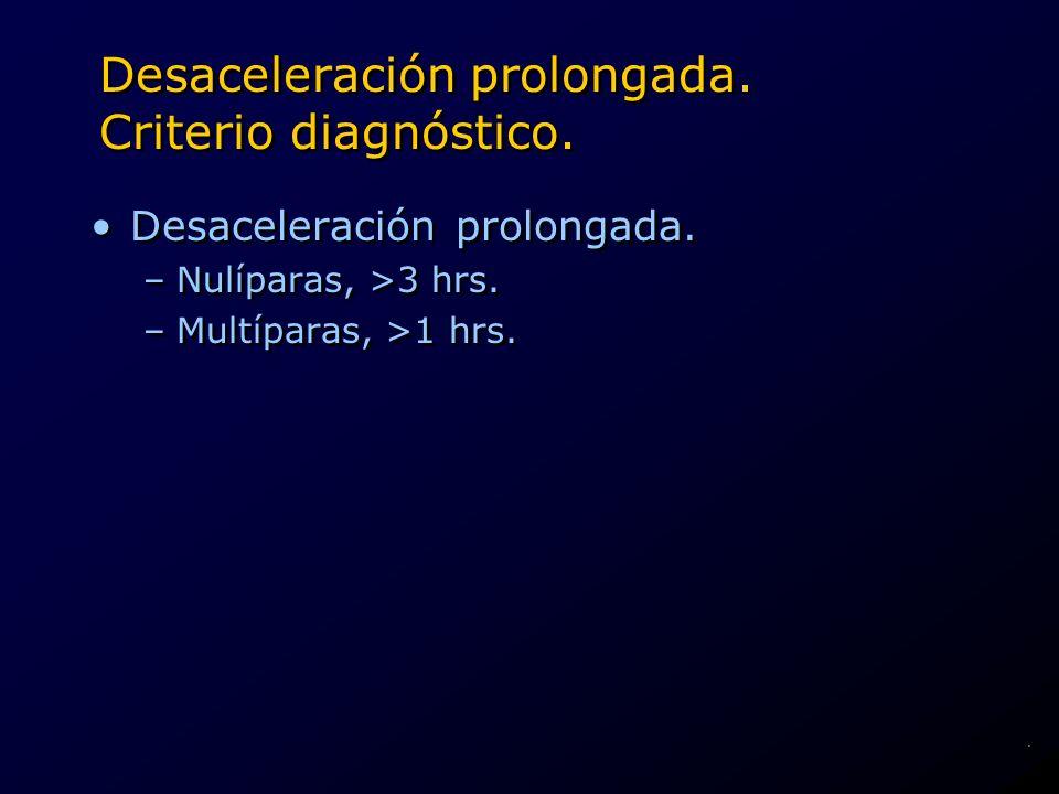 Desaceleración prolongada. Criterio diagnóstico.