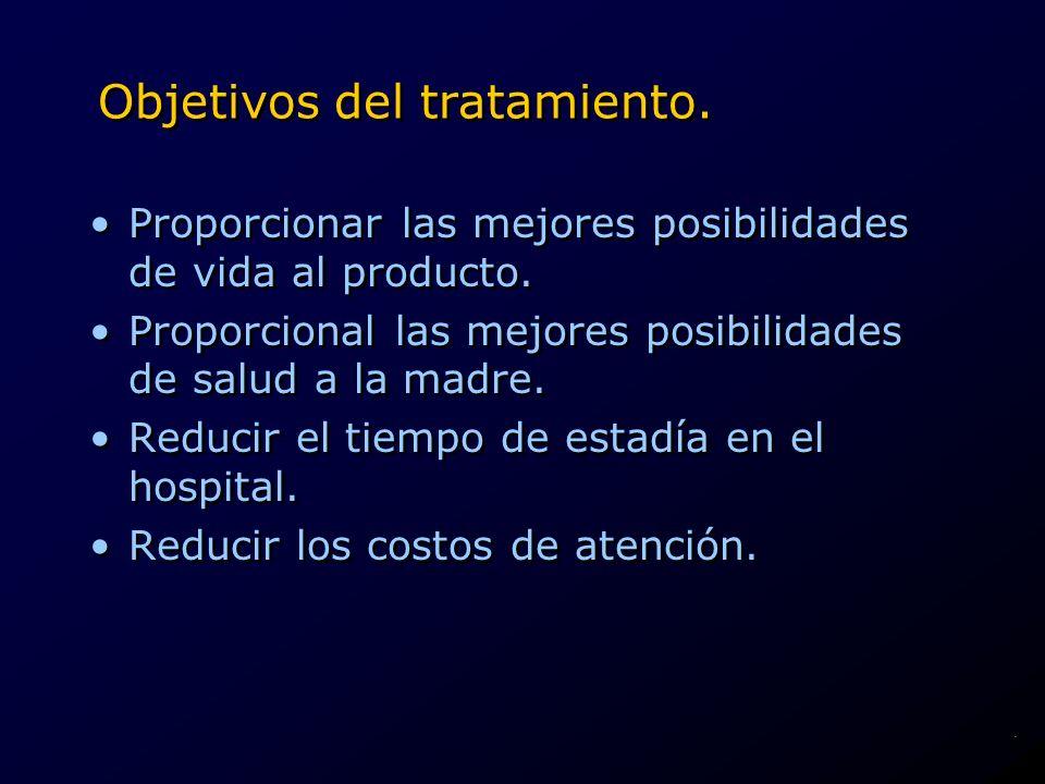 Objetivos del tratamiento.