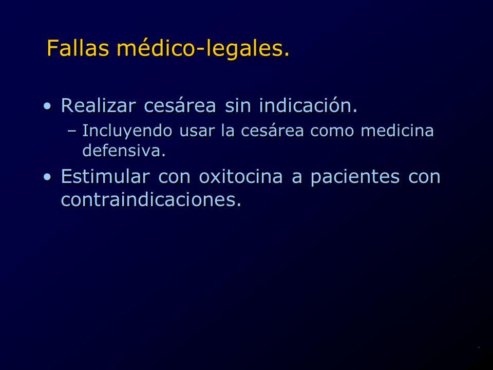 Fallas médico-legales.