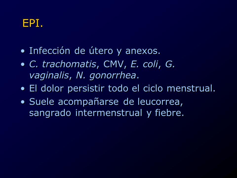 EPI. Infección de útero y anexos.