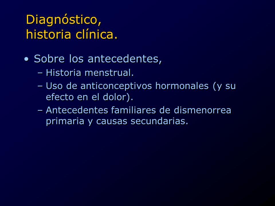 Diagnóstico, historia clínica.