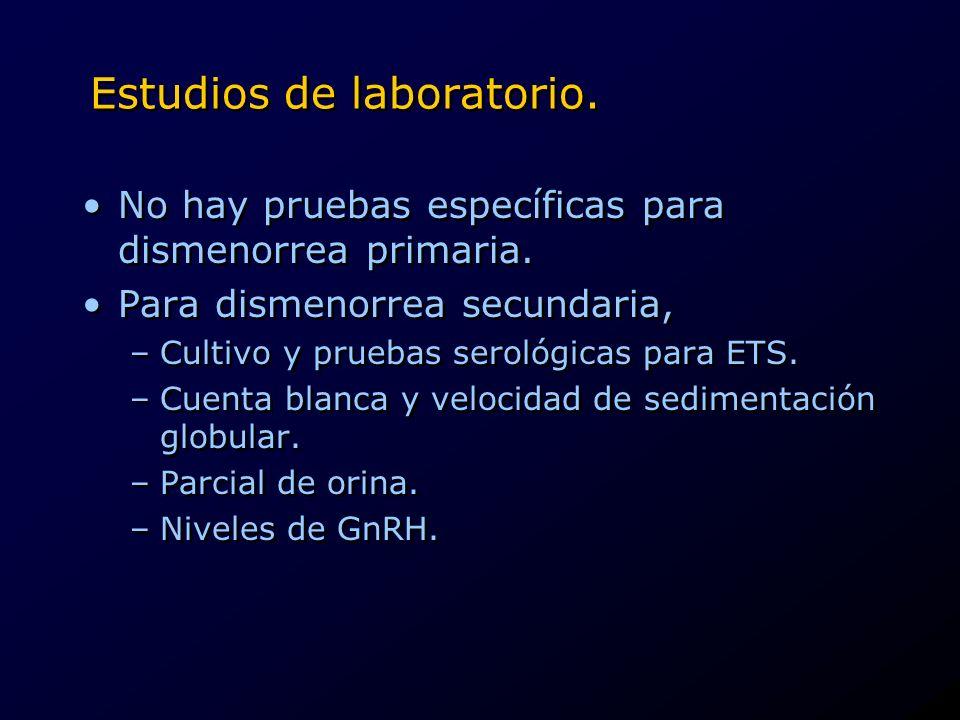 Estudios de laboratorio.
