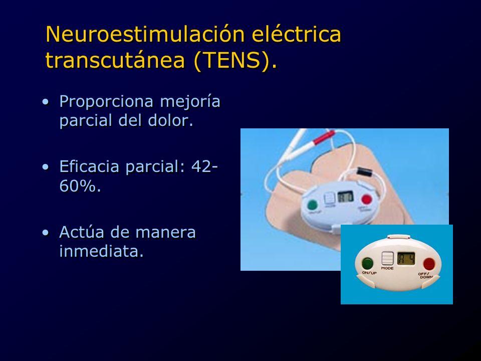 Neuroestimulación eléctrica transcutánea (TENS).
