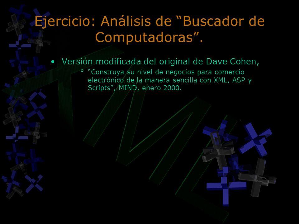 Ejercicio: Análisis de Buscador de Computadoras .