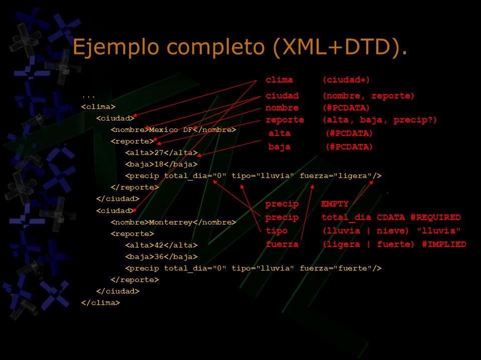 Ejemplo completo (XML+DTD).