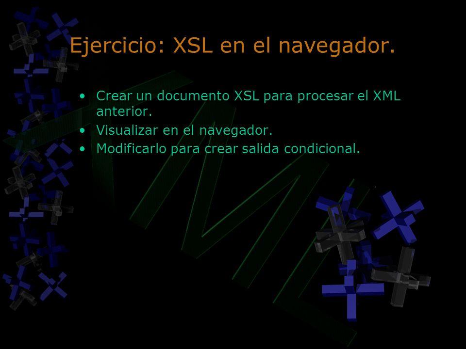Ejercicio: XSL en el navegador.