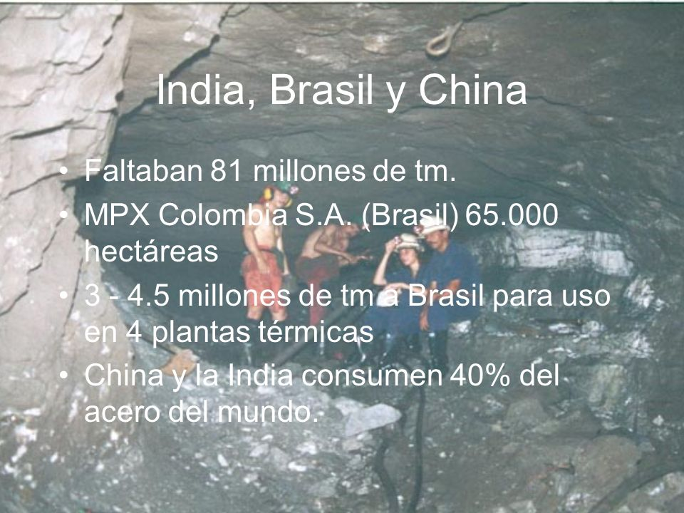 India, Brasil y China Faltaban 81 millones de tm.