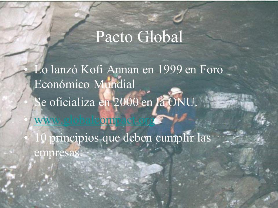 Pacto Global Lo lanzó Kofi Annan en 1999 en Foro Económico Mundial