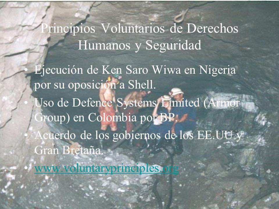 Principios Voluntarios de Derechos Humanos y Seguridad