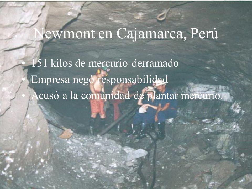 Newmont en Cajamarca, Perú