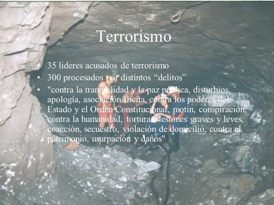 Terrorismo 35 lideres acusados de terrorismo