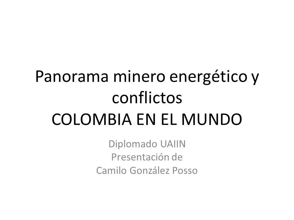 Panorama minero energético y conflictos COLOMBIA EN EL MUNDO