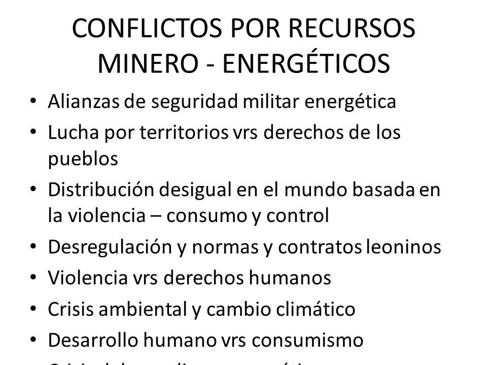 CONFLICTOS POR RECURSOS MINERO - ENERGÉTICOS