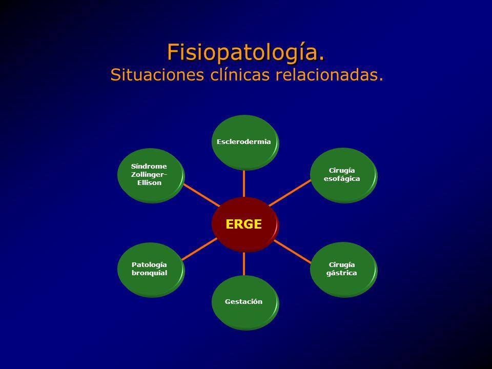 Situaciones clínicas relacionadas.