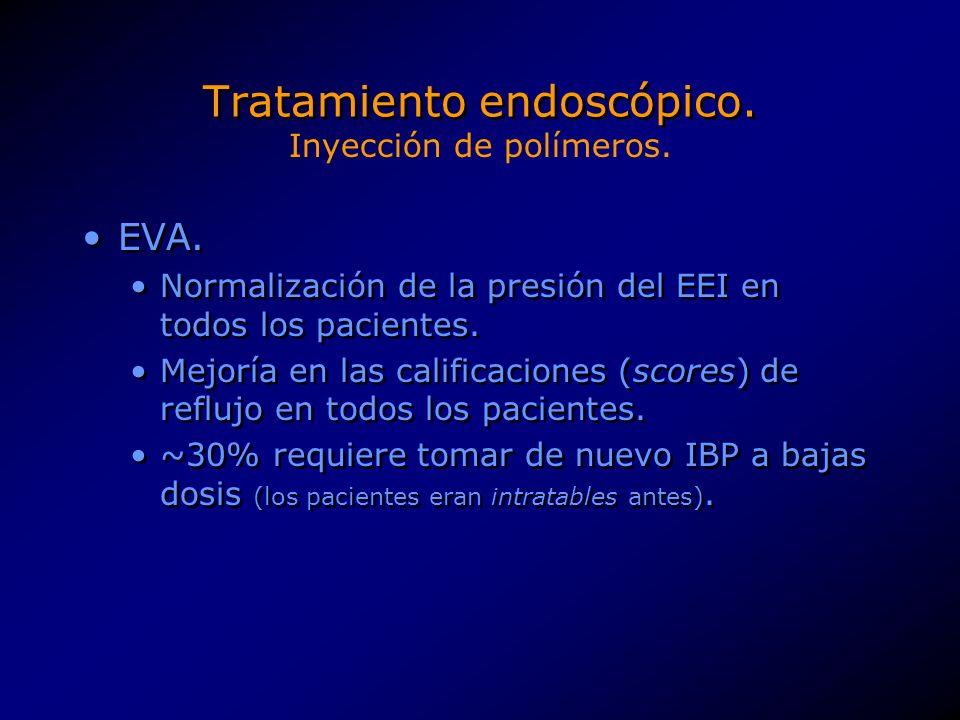 Tratamiento endoscópico.