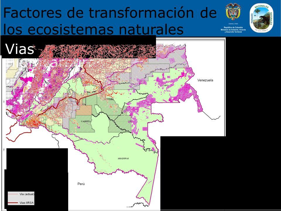 26.360 ha Factores de transformación de los ecosistemas naturales