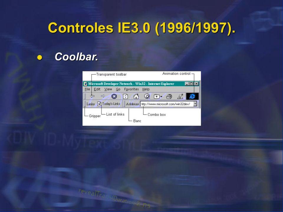 Controles IE3.0 (1996/1997). Coolbar. 46