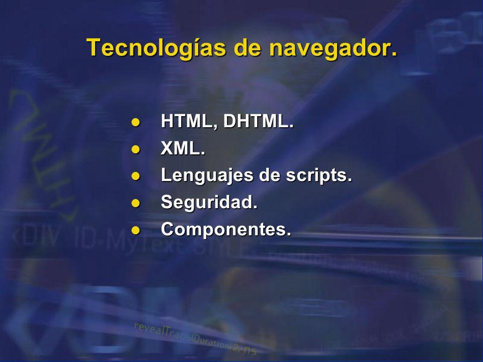 Tecnologías de navegador.