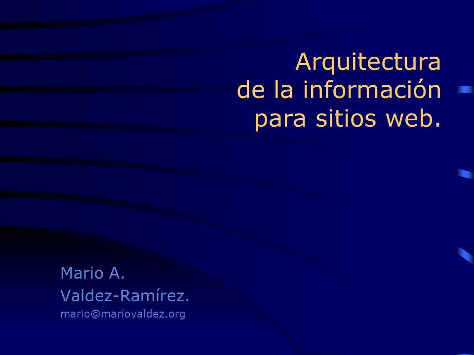 Arquitectura de la información para sitios web.