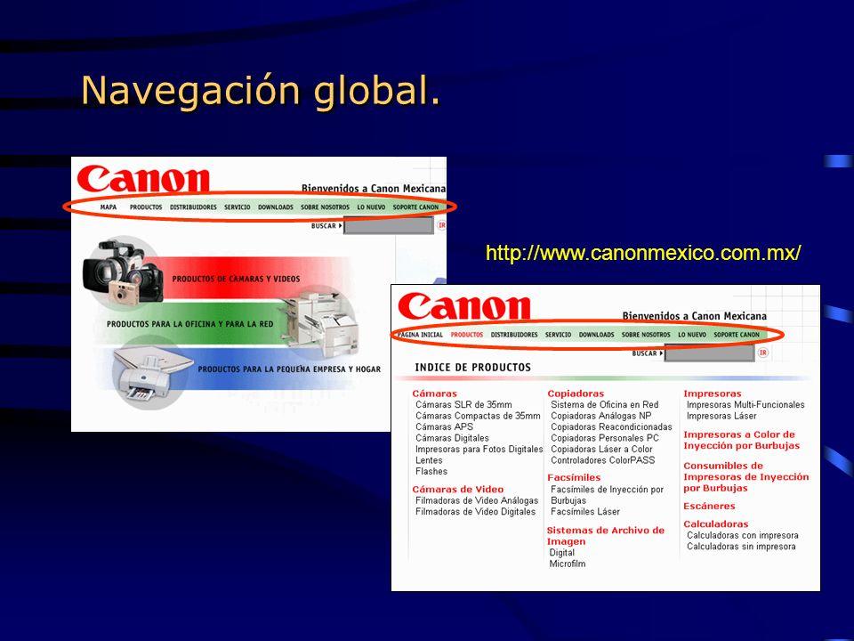 Navegación global. http://www.canonmexico.com.mx/