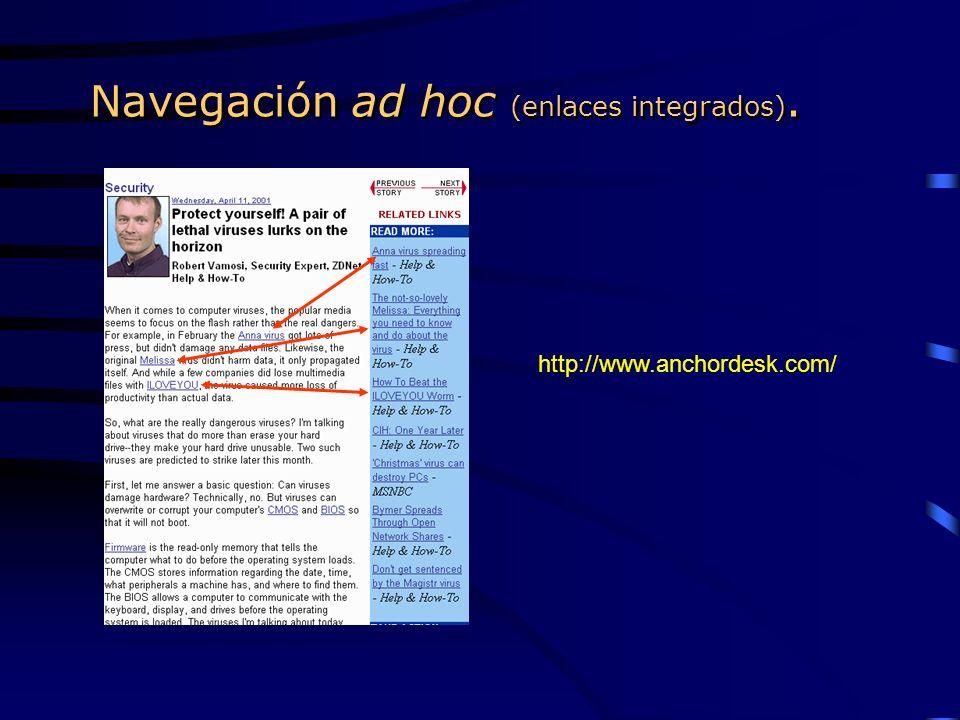 Navegación ad hoc (enlaces integrados).