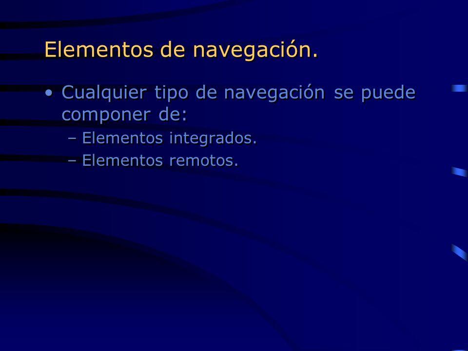 Elementos de navegación.