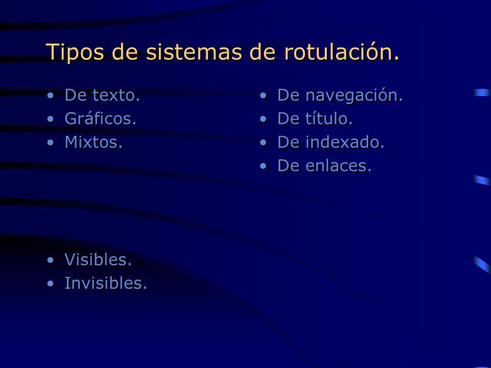 Tipos de sistemas de rotulación.