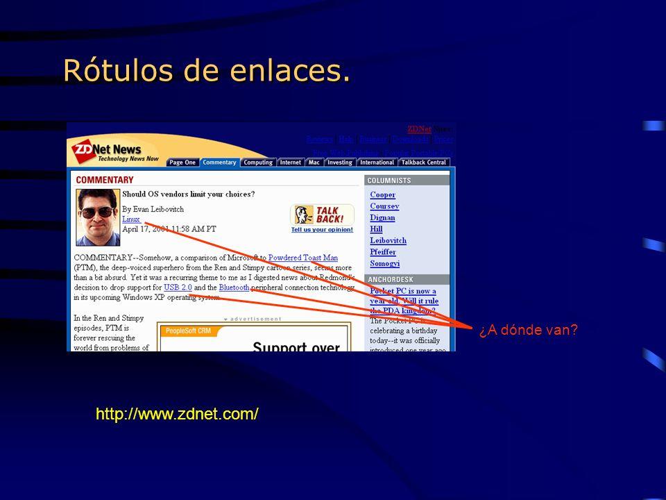 Rótulos de enlaces. ¿A dónde van http://www.zdnet.com/