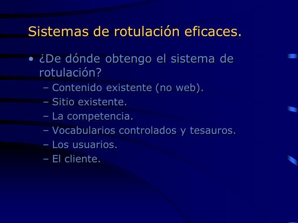 Sistemas de rotulación eficaces.