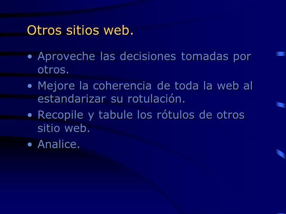 Otros sitios web. Aproveche las decisiones tomadas por otros.