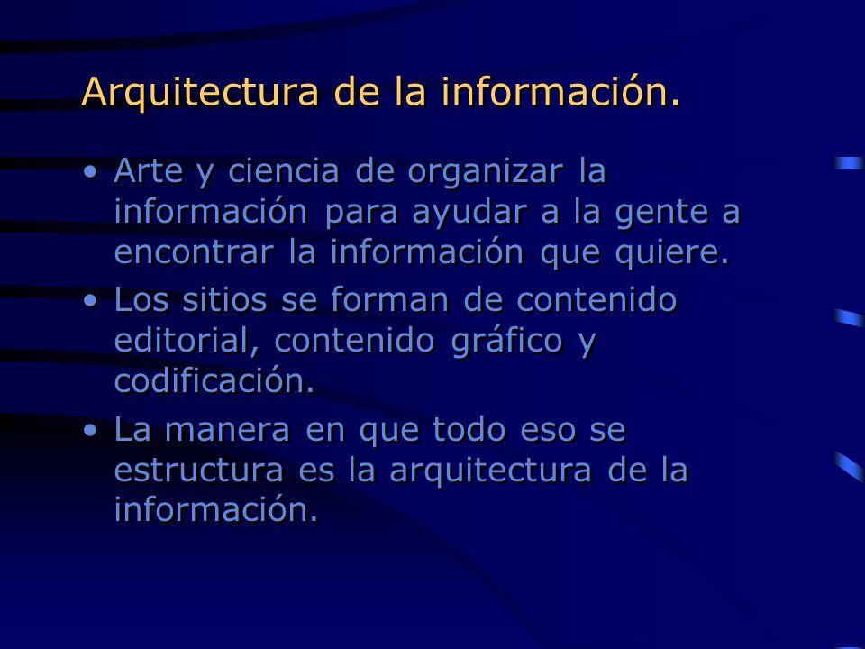 Arquitectura de la información.