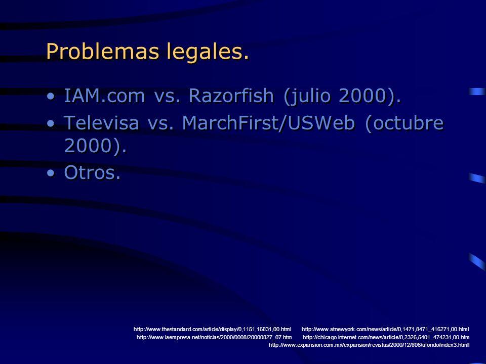 Problemas legales. IAM.com vs. Razorfish (julio 2000).