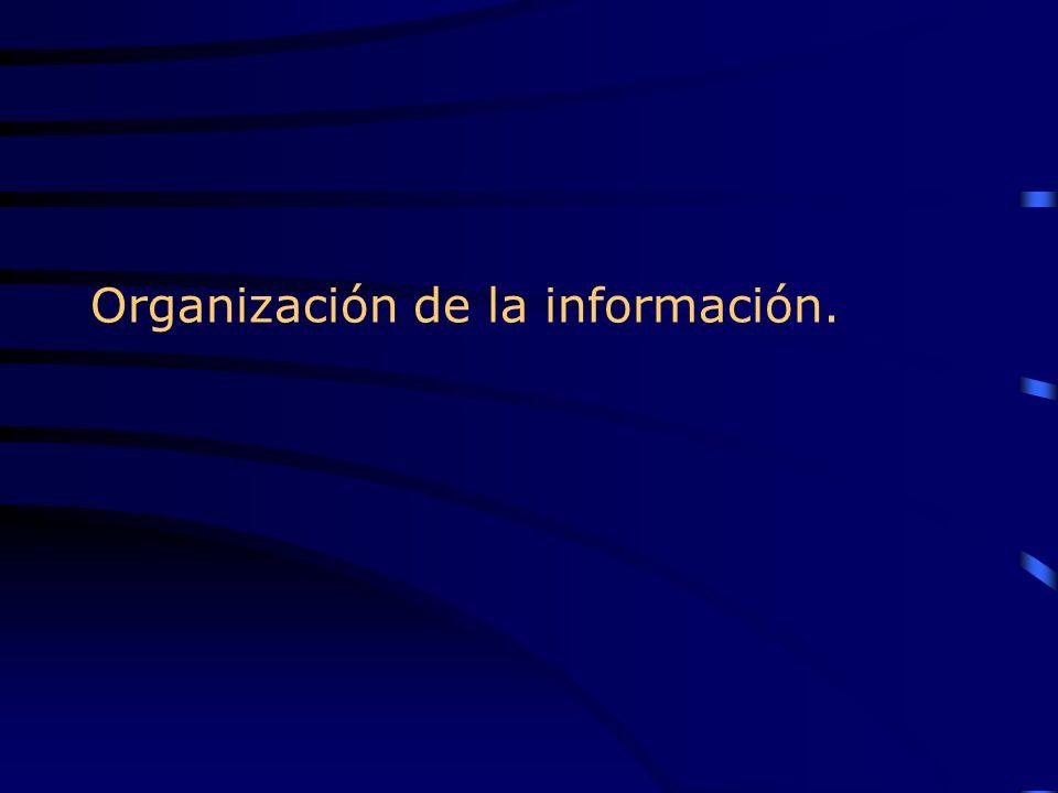 Organización de la información.