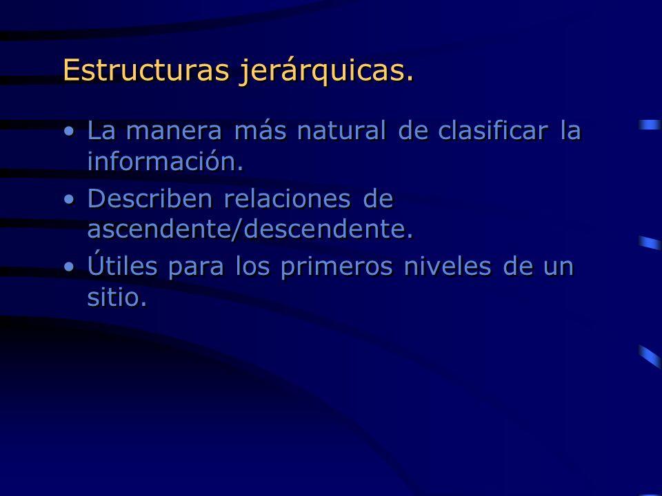 Estructuras jerárquicas.
