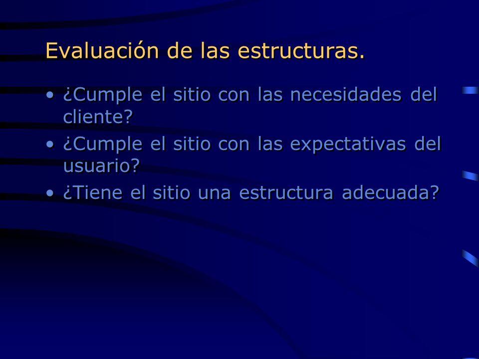 Evaluación de las estructuras.