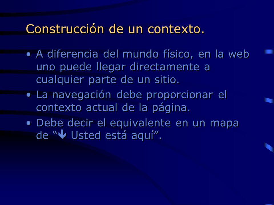 Construcción de un contexto.