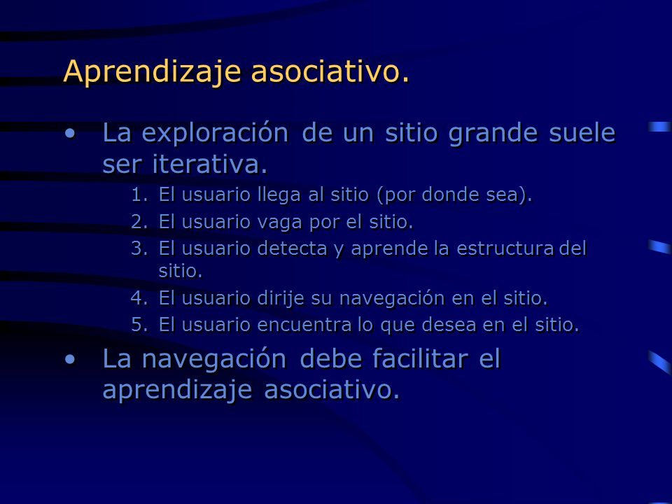 Aprendizaje asociativo.