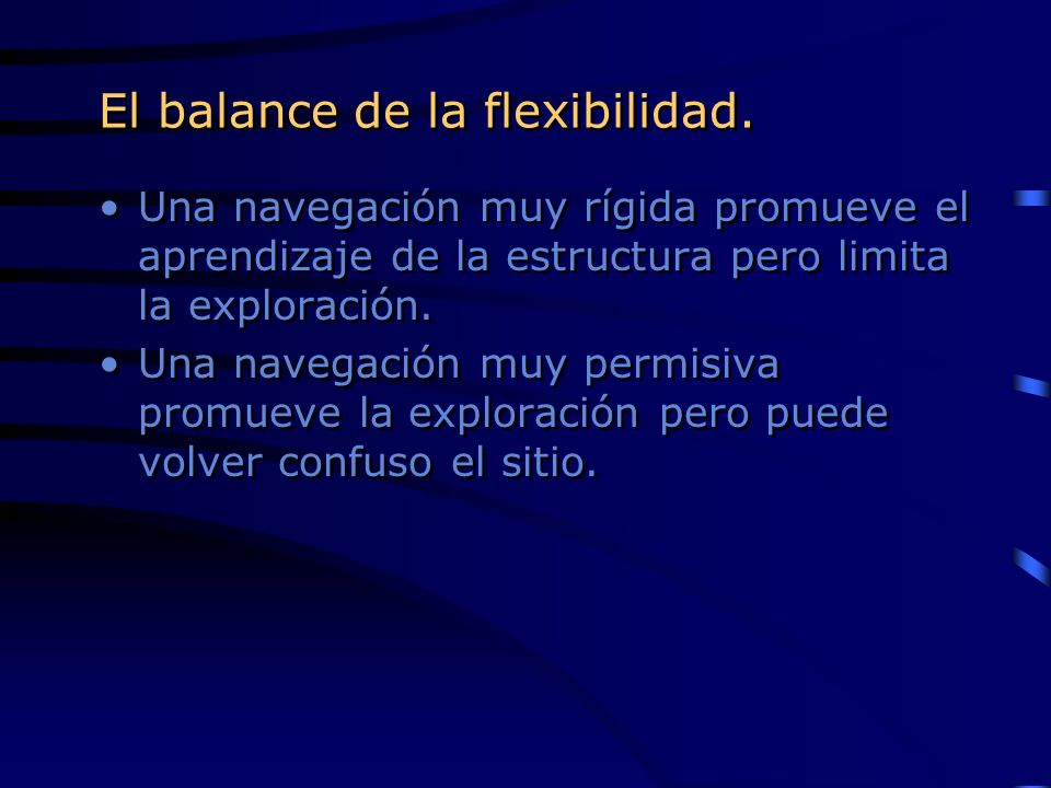 El balance de la flexibilidad.