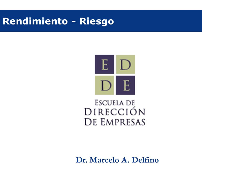 Rendimiento - Riesgo Dr. Marcelo A. Delfino