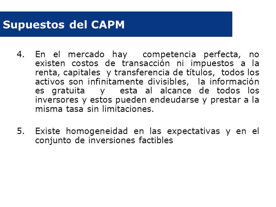 Supuestos del CAPM