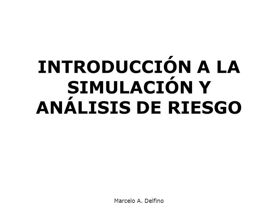 INTRODUCCIÓN A LA SIMULACIÓN Y ANÁLISIS DE RIESGO