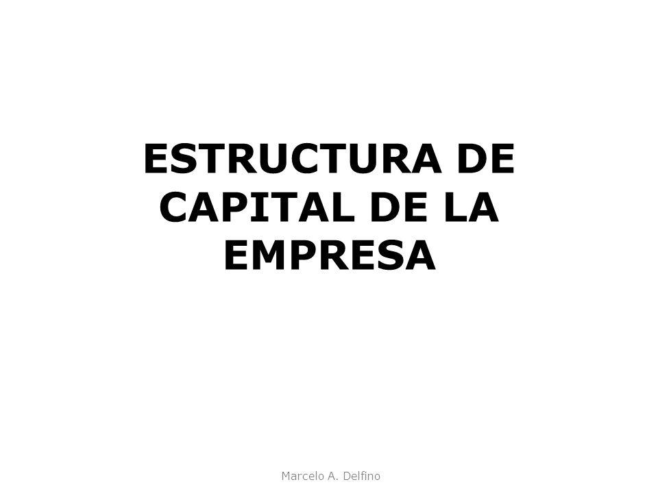 ESTRUCTURA DE CAPITAL DE LA EMPRESA